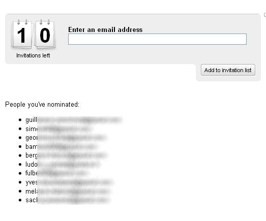 invitations Google Wave